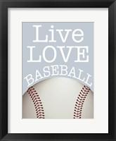 Framed Baseball Love