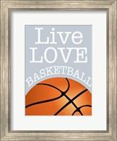 Framed Basketball Love