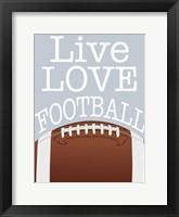Framed Football Love