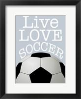 Framed Soccer Love