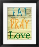 Framed Eat Pray Love