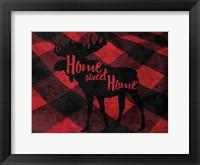 Framed Flannel Moose