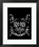 Framed Cat In The Night