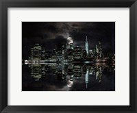 Framed Full Moon NYC