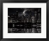 Framed Full Moon Chicago