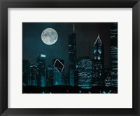 Framed Moonlit Chicago