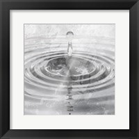 Framed Silver Droplet