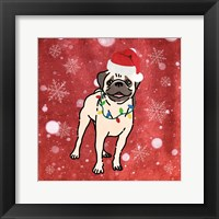 Framed Pug Cheer
