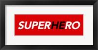 Framed SuperHEro Red 2