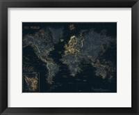 Framed Golden Blue World