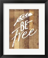 Framed Be Free Feather