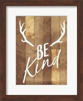 Framed Be Kind Antlers