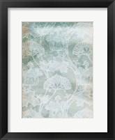 Framed Rustic Teal Grey Vine