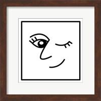 Framed Winky Face