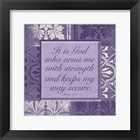 Framed Violet God