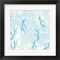 Framed Blue Floral Pattern 1