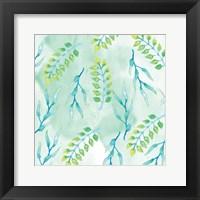 Framed Blue Floral Pattern 2