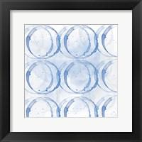 Framed Indigo Circles 1