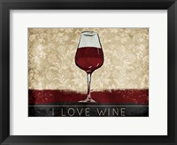 Framed I Love Wine