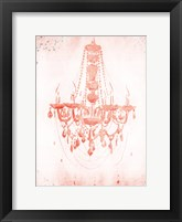 Framed Blush Silver Chandelier