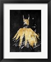Framed Gold Dress White Dots