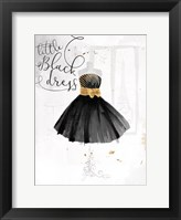 Framed Little Black Gold Dress