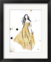 Framed Form Dress Gold