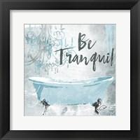 Framed Soft Blue Bath Mate