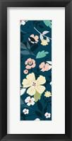 Framed Folksy Floral Scatter BLue&Grey
