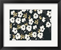 Framed 1613 Flora Noir Floral Repeat