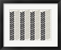 Framed 1613 Flora Noir Leaves