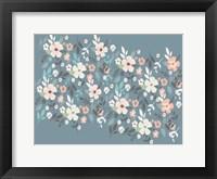 Framed Folksy Flora Grey Floral Scatter