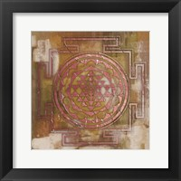 Framed Rose Gold Medallion