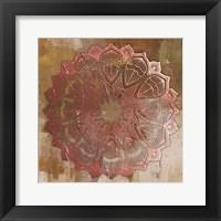 Framed Rose Gold Mandala