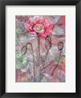 Framed Deep Blossom 1