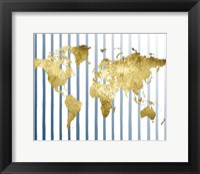 Framed Striped Map