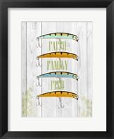 Framed Faith Family Fish