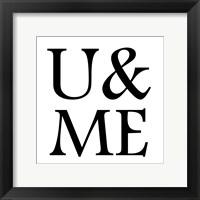 Framed U & ME Pure