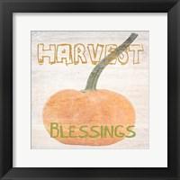 Framed Harvest Blessings