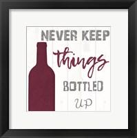 Framed Downpour of wine