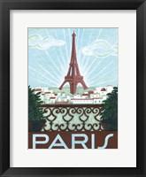 Framed Paris View