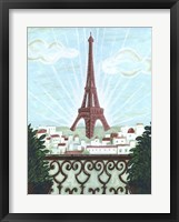 Framed Paris View 2