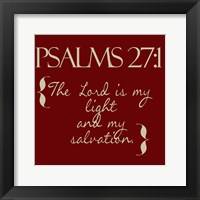 Framed Psalms 27-1 Red