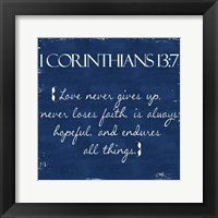Framed Corinthians Blue