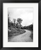 Framed Country Winding Road