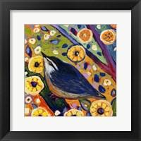 Framed Modern Bird XI