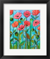 Framed Coral Poppies