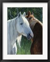 Framed Horse Whispering