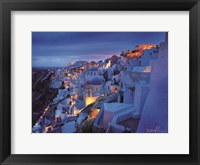 Framed Santorini Morning