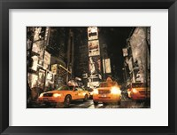 Framed Times Square Taxis